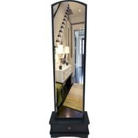 First Mobilya Lale Çekmeceli Boy Aynası / siyah