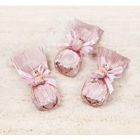 Melodi Çikolata Dekorlu Çiçek Baton Pembe Çikolata