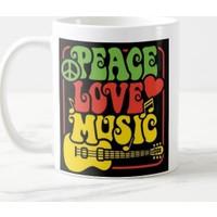 Miss Cici Peace Love Music Baskılı Kupa Bardak