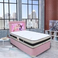 Homeshoppingmall Tek Kişilik Taytüyü Baza+Yatak+Başlık Prenses