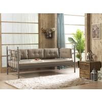 Unimet Lalas Metal Sofa 70x200 Kahverengi (Minderli)