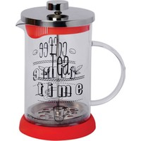 DS Filtre Kahve ve Çay Demleme - 600 Ml French Press Tea Time Yazılı