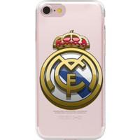 Remeto Apple iPhone 7 Real Madrid Takım Logosu Resimli Şeffaf Silikon Kılıf