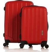 Esta Rubon - Picante Kırmızı 2'Li Valiz Seti (Kabin & Orta Boy) (%100 PP)