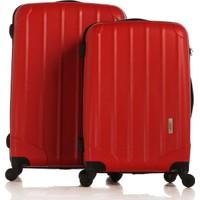Esta Rubon - PiCante Kırmızı 2'li Valiz Seti (Orta & Büyük Boy) (%100 PP)