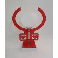 Seven Aydınlatma Sevgi Kırmızı Komidin Abajur Avize