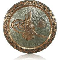 Sonay Bakırcılık Osmanlı Tuğralı İşleme Duvar Tepsisi 50 cm