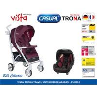 Casual Vista Travel Sistem Bebek Arabası - Mor