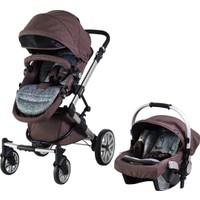 Prego 2070 Laon Travel Sistem Bebek Arabası - Kahverengi