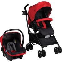 Prego 2076 Granada Travel Sistem Bebek Arabası - Kırmızı