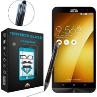 Case Man Asus Zenfone 2 Laser ZE601KL Kırılmaz Cam + Dokunmatik Stylus Kalem