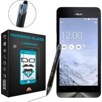 Case Man Asus Zenfone 5 Kırılmaz Cam + Dokunmatik Stylus Kalem