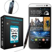 Case Man HTC Desire 616 Kırılmaz Cam + Dokunmatik Stylus Kalem