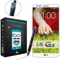 Case Man LG G2 Kırılmaz Cam + Dokunmatik Stylus Kalem