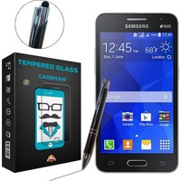 Case Man Samsung Galaxy Core 2 + Dokunmatik Stylus Kalem