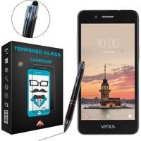 Case Man Vestel Venüs V3 5020 Kırılmaz Cam + Dokunmatik Stylus Kalem