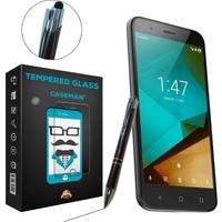 Case Man Vodafone Smart Pro 7 Kırılmaz Cam + Dokunmatik Stylus Kalem