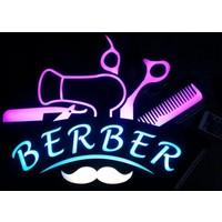 "Projeneon Berber Led Neon Tabela ""KUMANDALI 16 RENK"" 54x40cm"