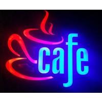 "Projeneon LED TABELA CAFE NEON TABELA ""KUMANDALI 16 RENK"" 43x41cm"