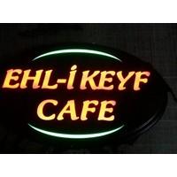 "Projeneon Ehli Keyf Cafe Led Neon Tabela ""KUMANDALI 16 RENK"" 54x33cm"