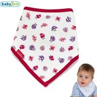 Baby Jem Fular Üçgen Önlük Kırmızı Biye Filli