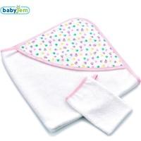 Baby Jem Bebek Banyo Havlu Keseli Pembe Elma