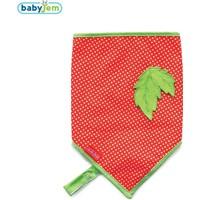 Baby Jem Fular Önlük Emzik Tutacaklı Kırmızı