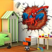 BigWall Sticker Örümcek Adam 3D Duvar Stickerı Spiderman