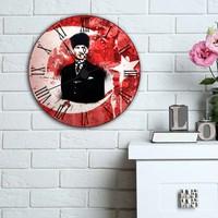 Kanvashome Atatürk Dekoratif Mdf Duvar Saati