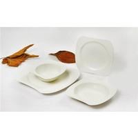 Yargıcı Porselen 24 Parça Kare Yemek Takımı