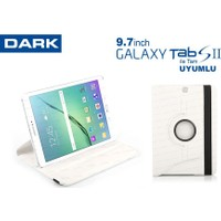 "Dark Samsung T810 9.7"" Tab S2 360° Hareketli Beyaz Kılıf (DK-AC-SMK9771WH)"