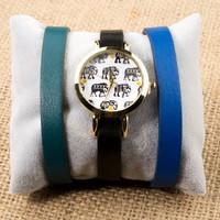 Zeblaze Tmkd005A Fil Figürlü Tasarım Kordonu Değiştirilebilir Kadın Kol Saati