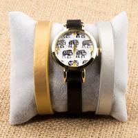 Zeblaze Tmkd005B Fil Figürlü Tasarım Kordonu Değiştirilebilir Kadın Kol Saati
