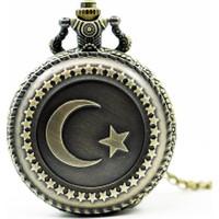 Modakedi Ay Yıldız Bayrak Türkiye Köstekli Saat Kolye
