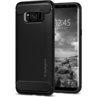 Spigen Samsung Galaxy S8 Plus Kılıf Rugged Armor Black - 571CS21661