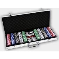 Pusula Oyun Poker Seti 500 Chip (Alüminyum Çantalı 500'lük Poker Fişi)