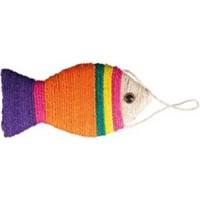 Bobo İp Sargılı Balık Figürlü Kedi Oyuncağı