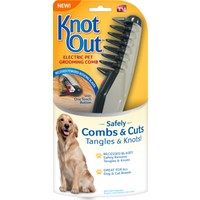 Knot Out Kedi ve Köpek İçin Pilli Döner Jiletli Kıtık Açıcı Tarak