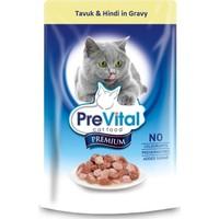 Prevital Erişkin Premium Tavuk&Hindi İn Gravy Kedi Pouch 100Gr