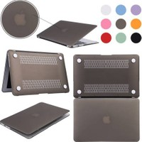 Alaca Yeni Macbook Pro 13'' A1706 / A1708 Kılıf Ön Arka Silikon Mat Doku 2016