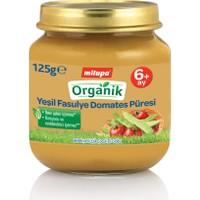 Milupa Organik Yeşil Fasulye Domates Püreli Kavanoz Maması 125 gr