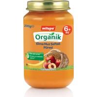 Milupa Organik Elma Muz Şeftali Püreli Kavanoz Maması 200 gr