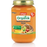 Milupa Organik Tahıllı Karışık Meyve Püreli Kavanoz Maması 200 gr
