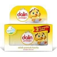Dalin Yenidoğan 3'Lü Islak Mendil Organik