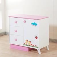Dessenti Miray Bebek Odası Şifoniyer Beyaz-Pembe
