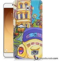 Teknomeg Samsung Galaxy C9 Pro Kapak Kılıf Sarı Wolsvagen Baskılı Silikon
