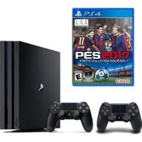 Sony Playstation 4 Pro 1 Tb ( Ps4 Pro ) + 2. Ps4 Kol + Ps4 Pes 2017