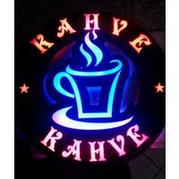 """Projeneon Led Tabela Neon Sıcak Kahve """"Kumandalı 16 Renk"""" 38 x 38 Cm"""