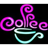 "Projeneon Led Tabela Neon Coffee ""Kumandalı 16 Renk"" 44 x 40 Cm"