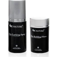 De Nature Saç Dolgunlaştırıcı - Seyreklik Kapatıcı - Saç Gürleştirici 22 gr Toz + 100 ml Sabitleyici Sprey - Siyah